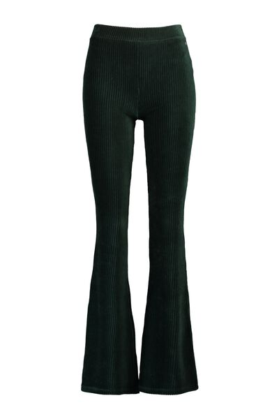 Velvet flared pants stretch lengtemaat 30