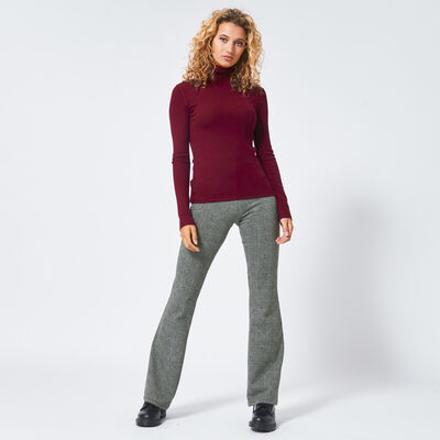 Flared pants in ruit lengte 32