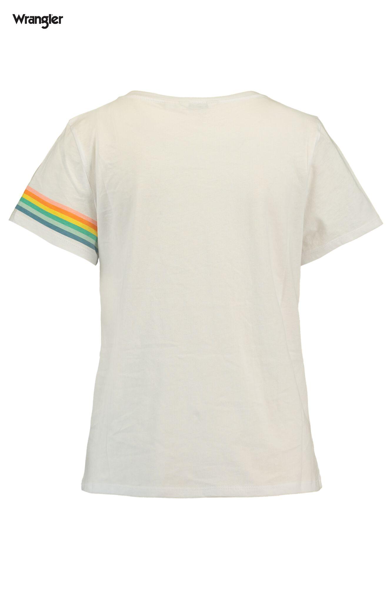 63a2a85b Women T-shirt Wrangler Rainbow White Buy Online