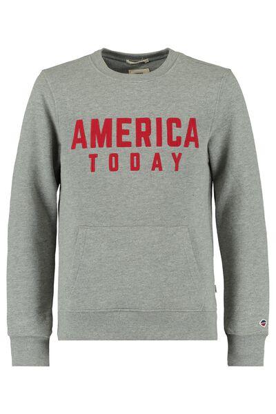 Sweatshirt mit America Today Stickerei