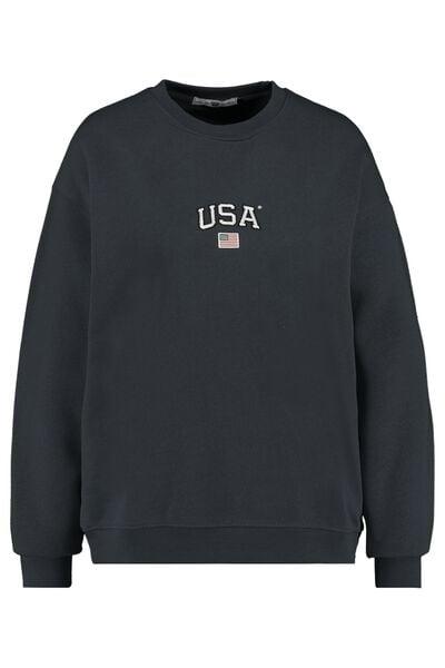Sweater USA tekstprint