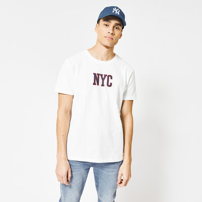 T-Shirt with NYC text print