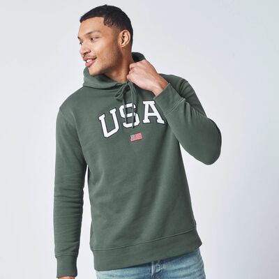 USA hoodie with drawstring