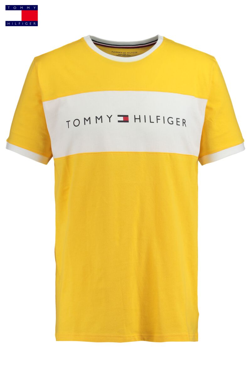 38faa9bb6 Men T-shirt Tommy Hilfiger Logo Yellow Buy Online