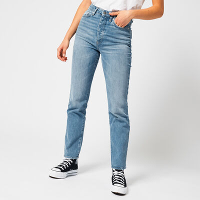 Straight fit Jeans mit heller Waschung