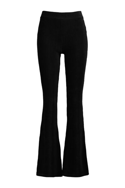Flared trouser with stretch