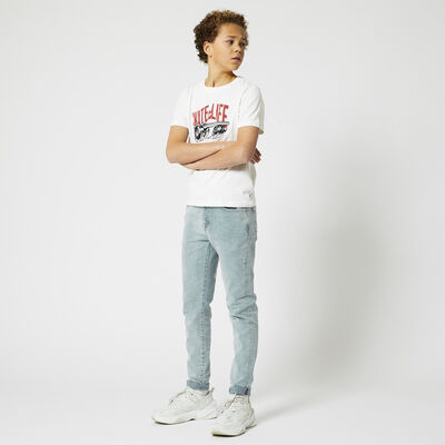Skinny jeans bleached denim