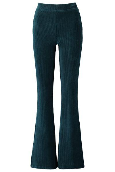 Pantalon évasé en velours Longueur30 extensible
