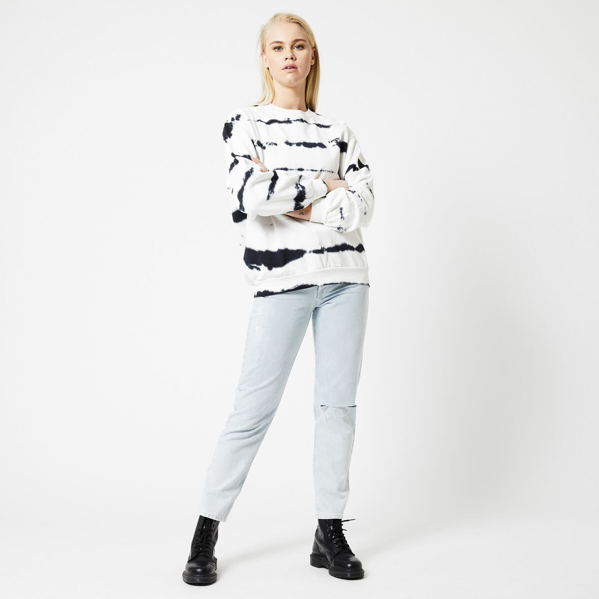 Sweater Melrose slouchy crew