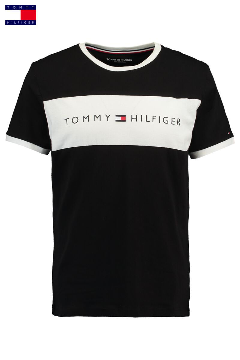 3c0f30c0b3e5 Men T-shirt Tommy Hilfiger Logo Flag Black Buy Online
