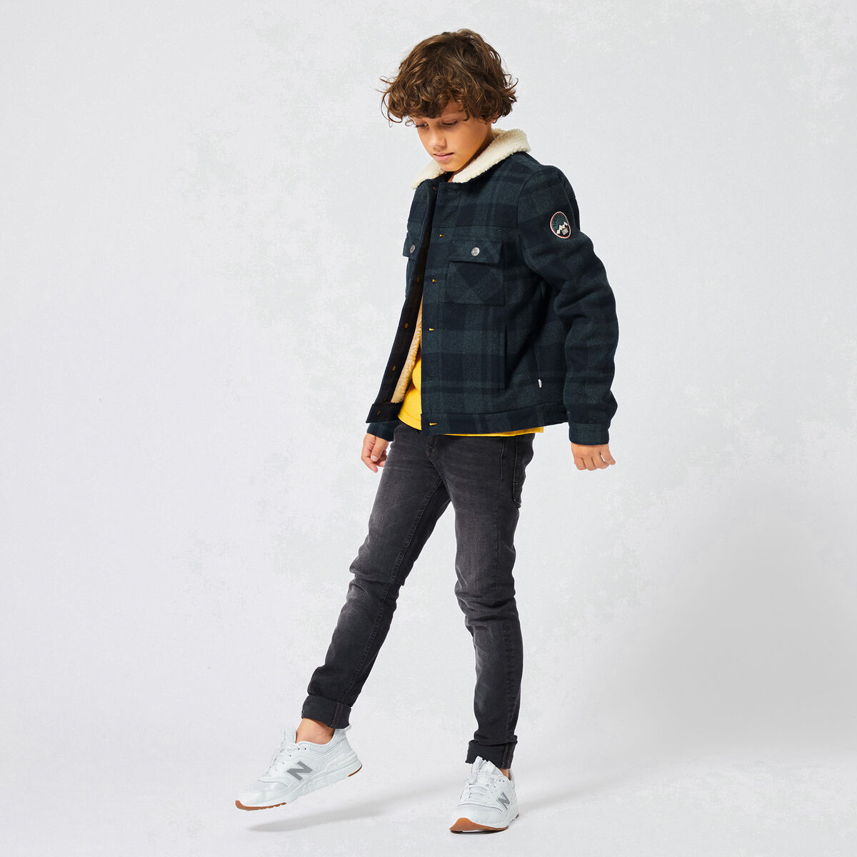 Trucker jacket Jacob check Jr