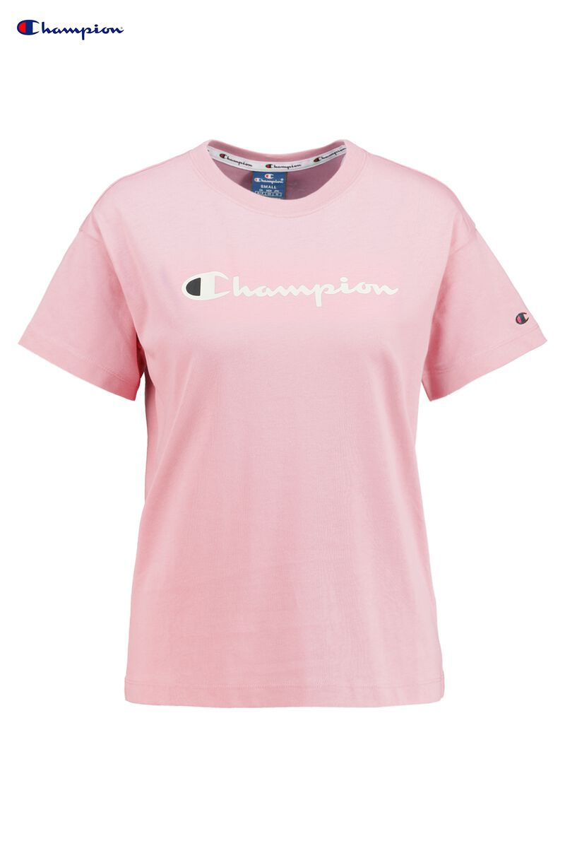 cd32c2e0 Women T-shirt Champion American logo Pink Buy Online