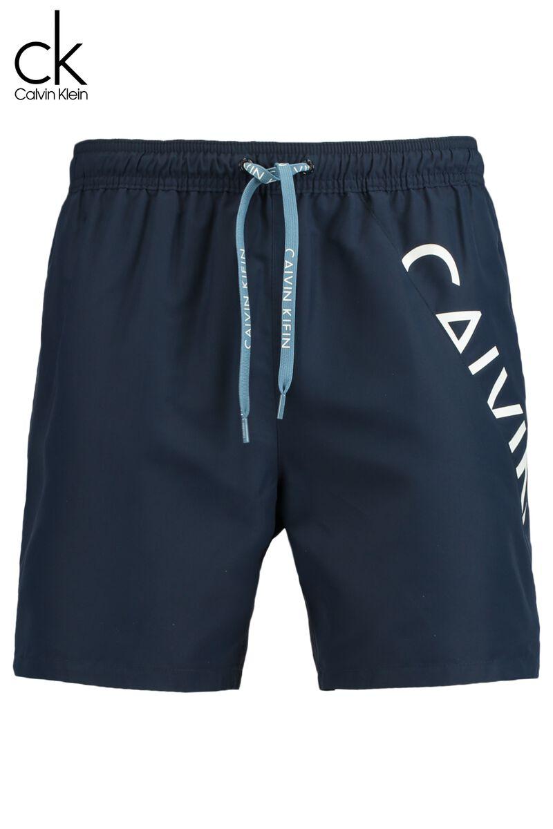 sehr schön 98472 28bdb Herren Badehose Calvin Klein Drawstring Blau Online Kaufen