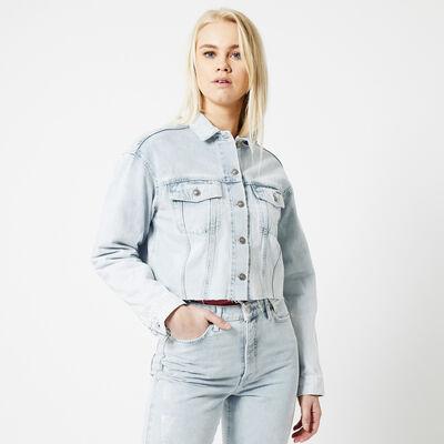 Denim jacket cropped fit