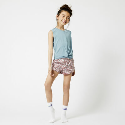 Short de pyjama à imprimé rayé