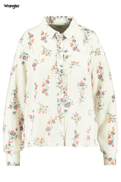 Blouse Wrangler collar Flower