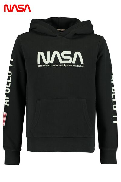 Hoodie with kangaroo pocket, hood and print