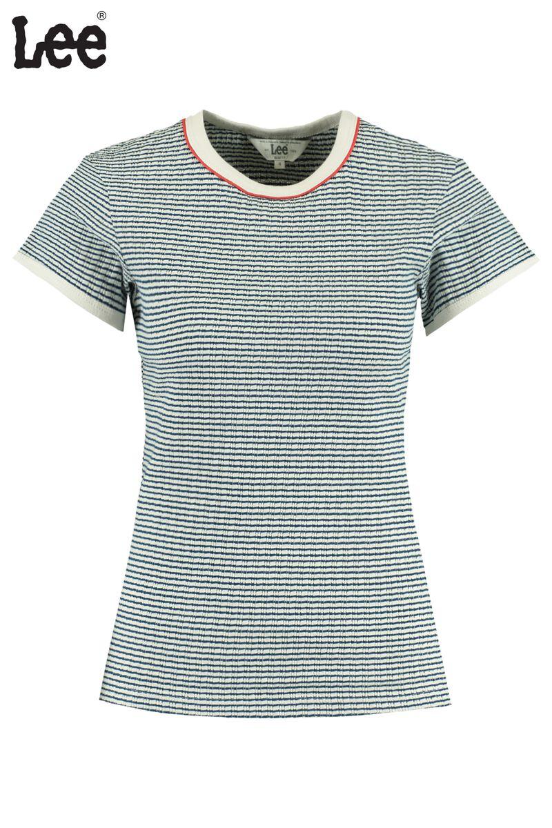 T-shirt Striped Rib Tee Blue