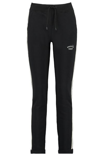 Jogging pants with side stripe