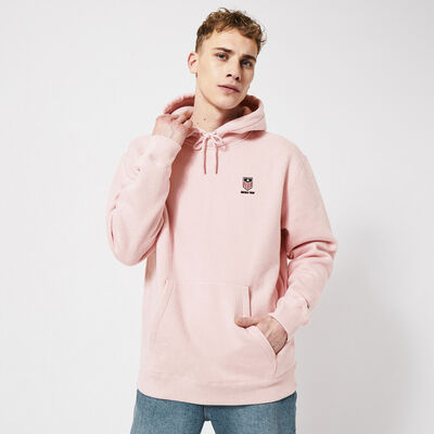 Hoodie with embroidery and drawstring