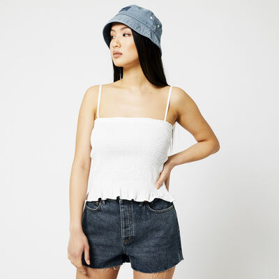 Top with square neckline