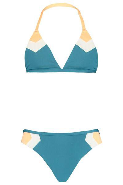 Bikini with color areas