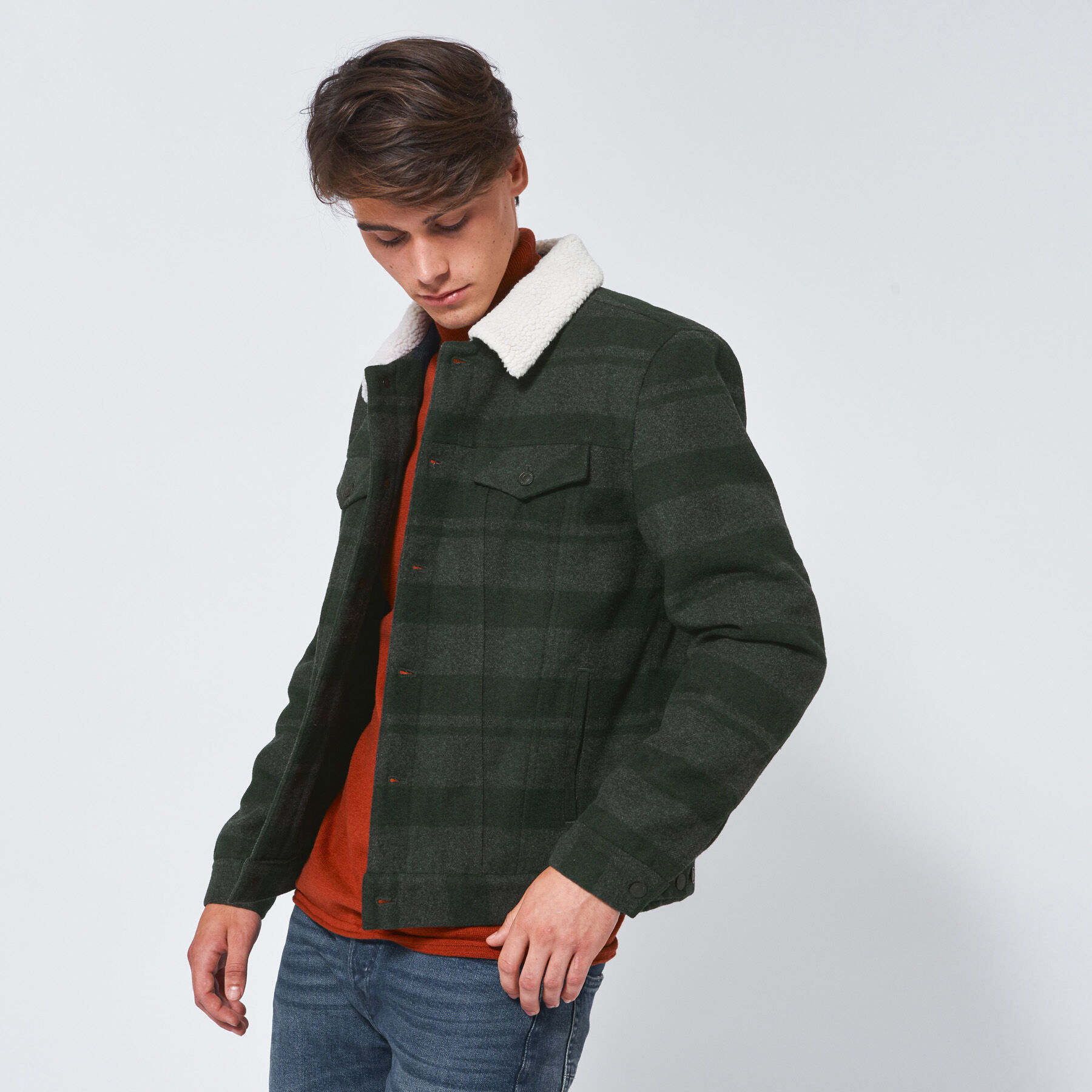 Kaufen Trainingsjacke Online, Grün Trainingsjacke zum Herren