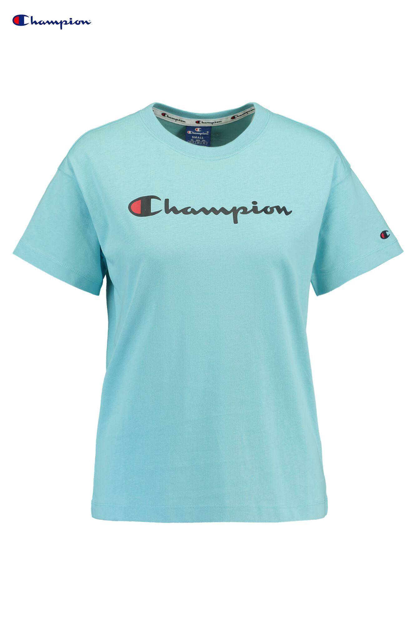 48e0dc9f3 Women T-shirt Champion American logo Blue Buy Online
