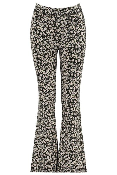 Flared pants all-over print
