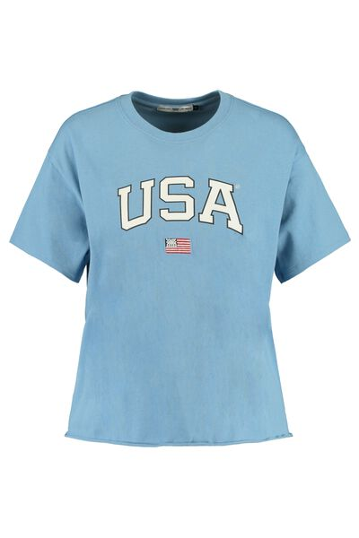 T-shirt with USA text