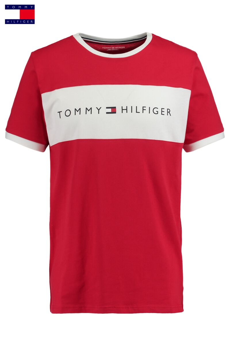 9725a1cd4208d3 Men T-shirt Tommy Hilfiger Logo Red Buy Online
