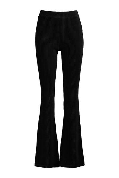 Velvet flared pants stretch lengtemaat 30