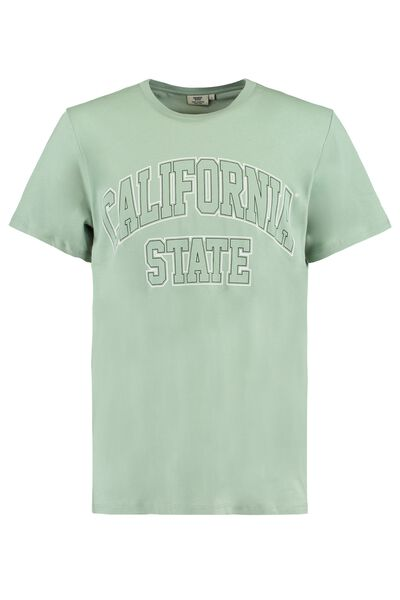 T-shirt California State tekstprint