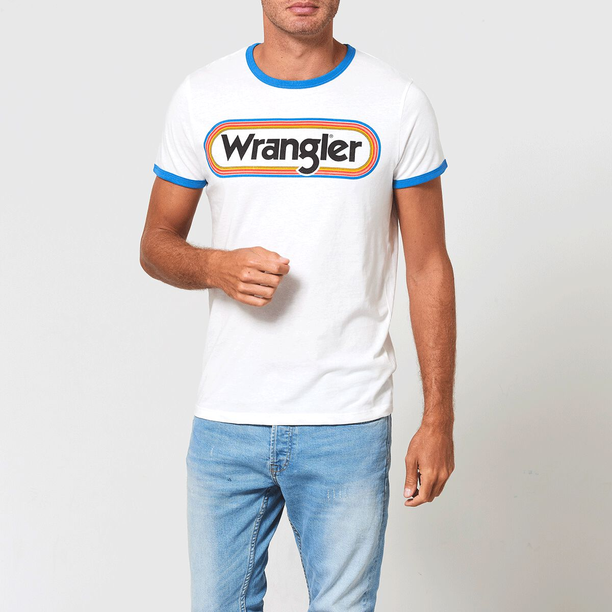 bf6c786e76 Men T-shirt Wrangler ringer White Buy Online
