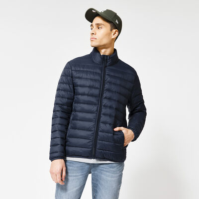 Padded jacket stand-up collar