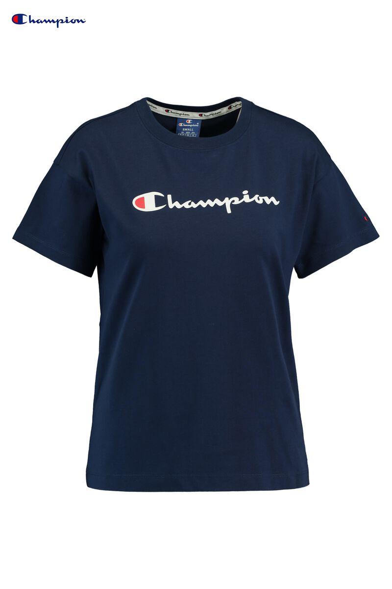 1b31417f9187 Women T-shirt Champion American logo Blue Buy Online