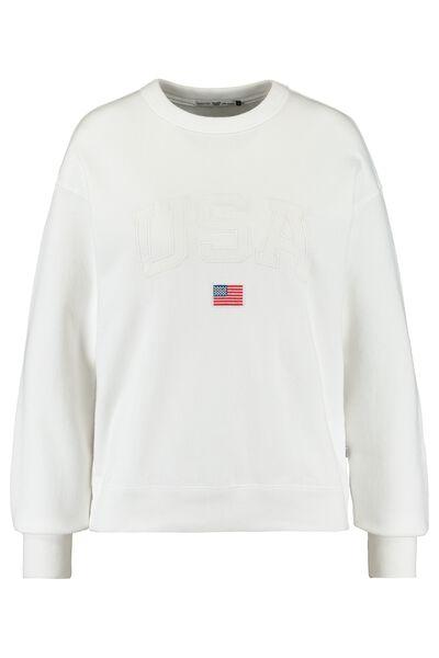 Sweater USA tekstborduring en vlag