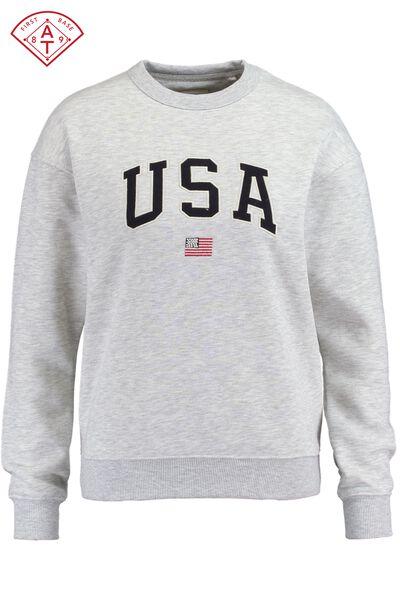 Sweater USA tekstborduring