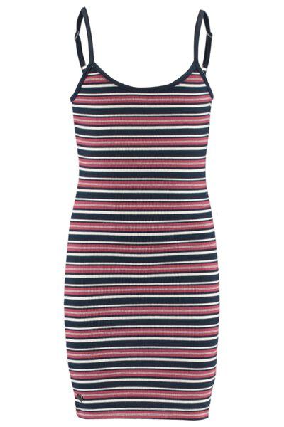 Kleid Allover Streifen-Print