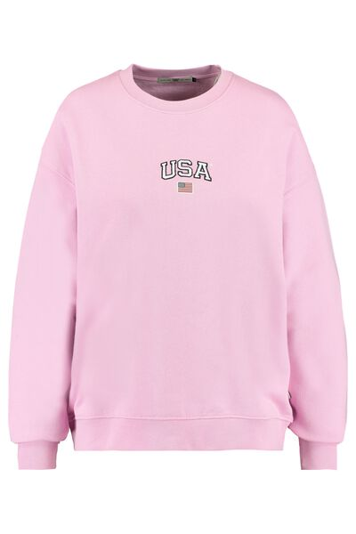 Sweater with USA embroidery