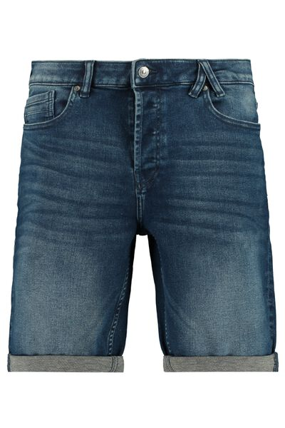 Jogdenim short with button closure