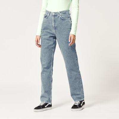 Straight fit jeans mittelhoher Bund