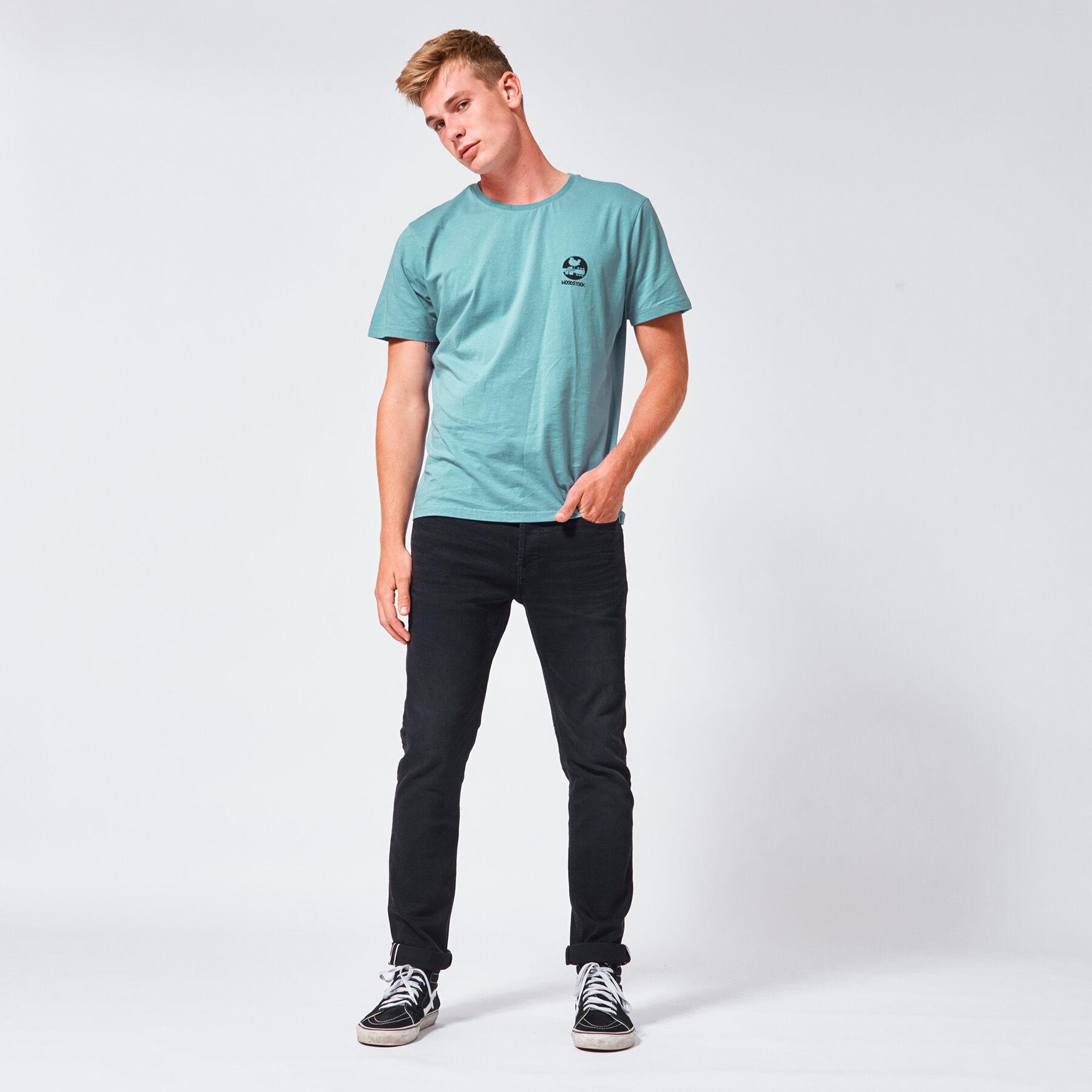 Herren Slim jeans Neil Selvedge Schwarz Online Kaufen