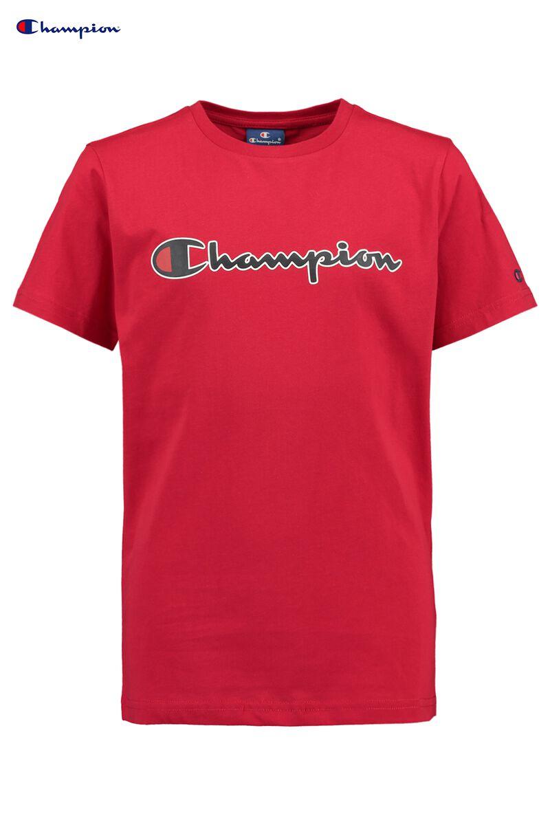 0081b1d50 Boys T-shirt Champion logo Red Buy Online
