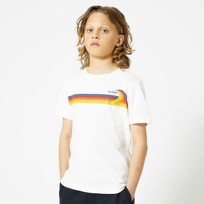 T-shirt California Print mit Streifen