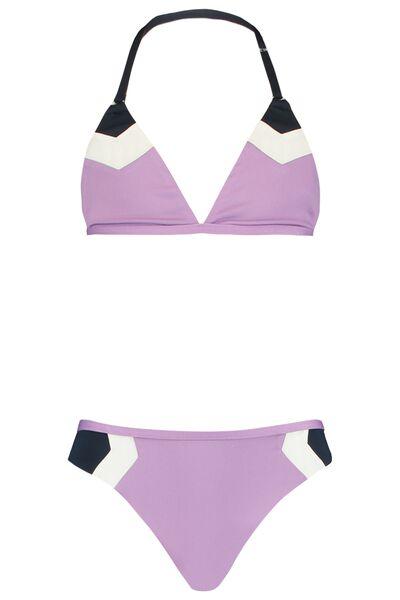 Bikini met kleurvlakken