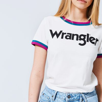 T-shirt Wrangler Ringer