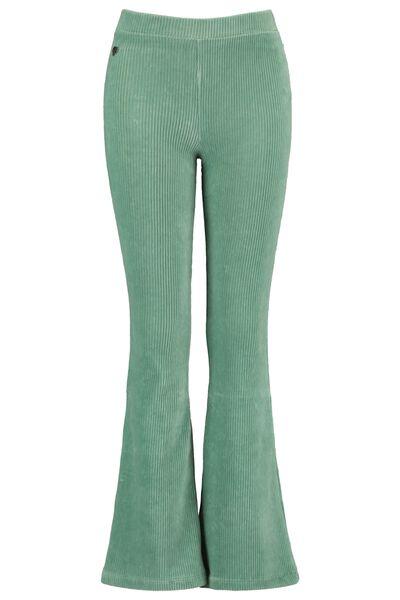 Flared pants ribbed fabric
