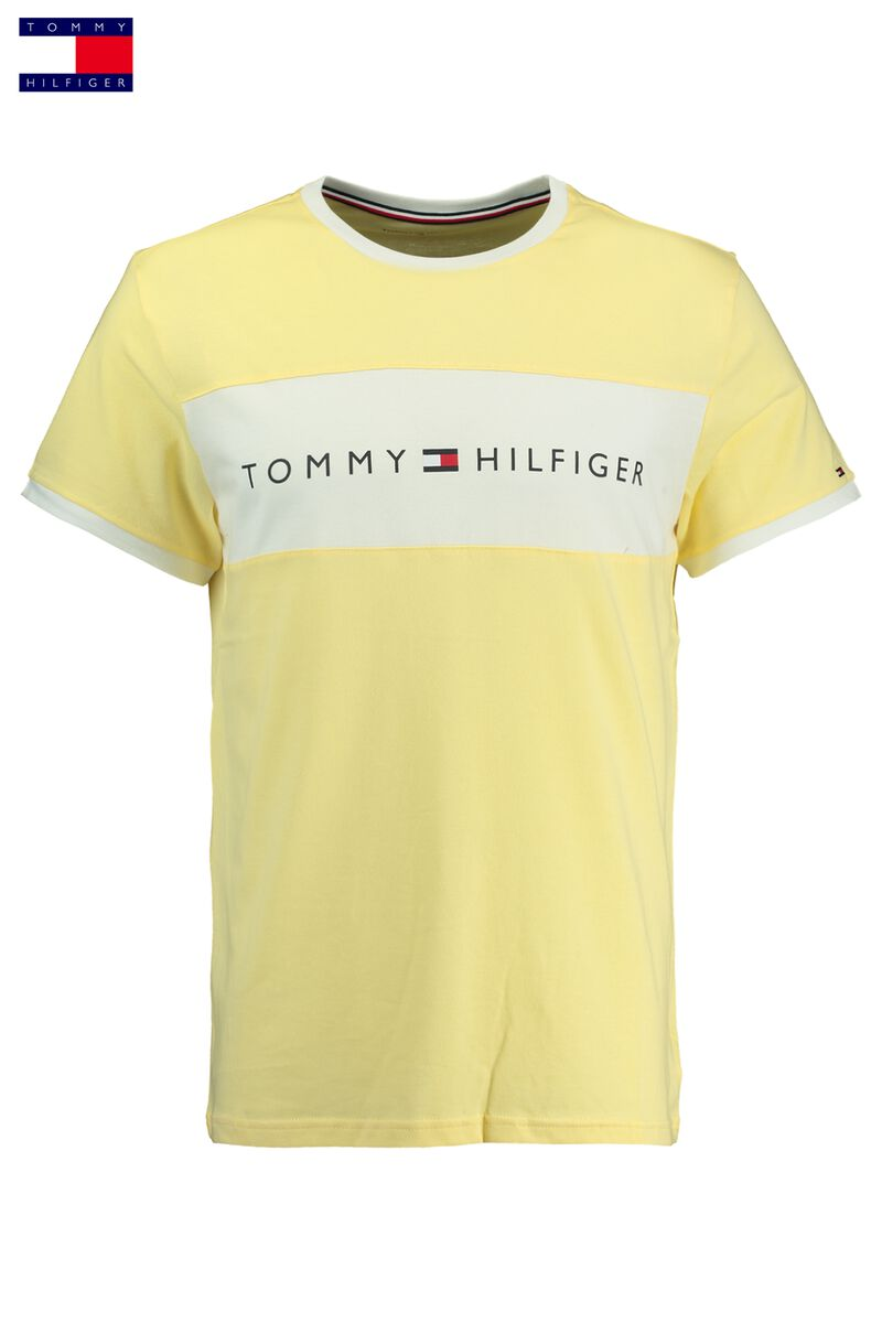 6534b06a1996 Men T-shirt Tommy Hilfiger Logo Flag Yellow Buy Online