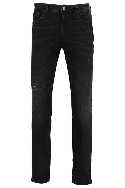 Skinny jeans Ryan met donkere wassing en ripped details
